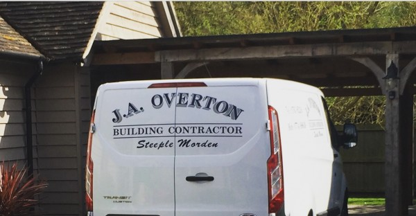 J A Overton Building Contractor van