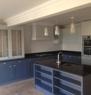 Newly installed kitchen by a building contractor