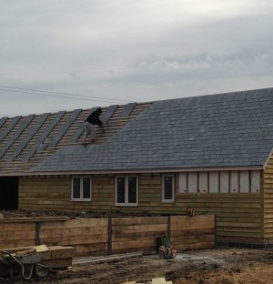 Roofing on a new build