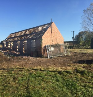 Dilapidated shed to be turned into a new build