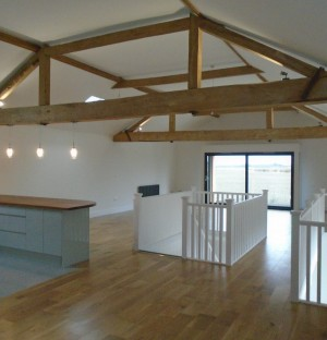 New build with exposed beams